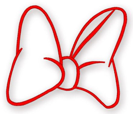 minnie mouse bow - 047- machine embroidery design
