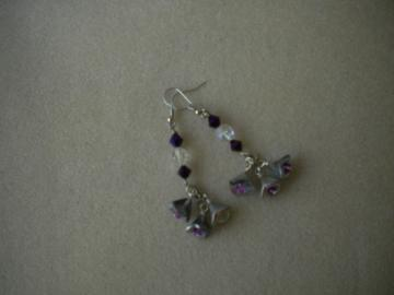 Sparkling Silver Flower Bead Earrings