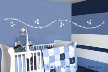 Twinkle Border 11x102 Vinyl Lettering Wall Quotes Words Sticky Art
