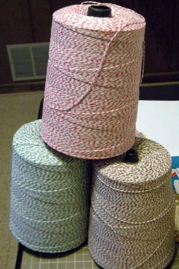 25 yards 4-ply Red/White Bakers Twine