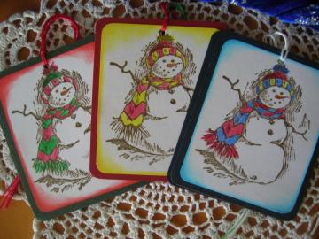Snowman Gift Tags Set of 6