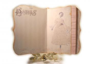 Paris Ballet Journal Romantic Shabby Paris Pink Ballerina