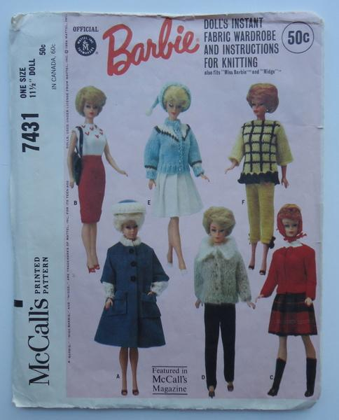 2715339 original Barbie Doll Clothes Sewing Patterns