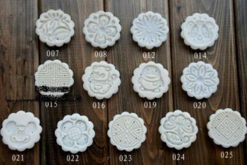 moon cake mold 50g round set with 13 stamps