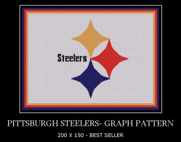 Pittsburgh Steelers - GRAPH PATTERN Yarn Hookers on ZIBBIT