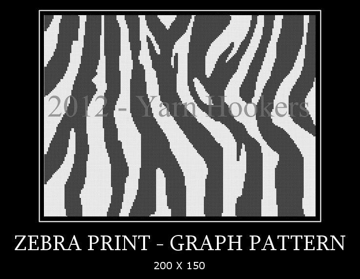 Zebra Crochet Afghan Pattern Free : Click to Enlarge Image