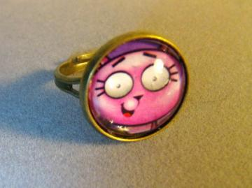Tiny the Kitten Bronze Adjustable Ring 2