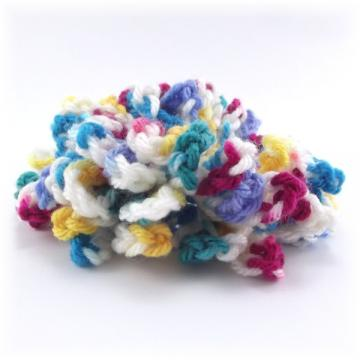 Confetti Crocheted Hair Scrunchie