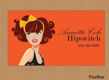 Premade Fashion Illustration Business Card Design No. 34