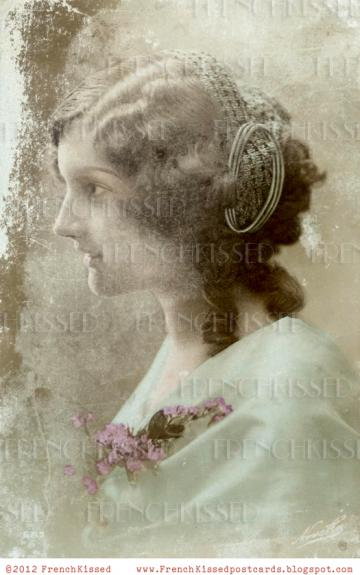 DIGITAL Scan TIMELESS BEAUTY Shabby Chic Antique French Victorian Edwardian Postcard photo download