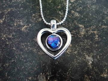 Blue Dichroic Heart