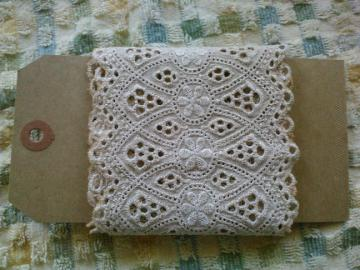 Tea Dyed Lace Ribbon