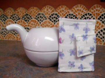 Blue & Purple Flower Tea Wallet