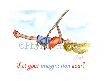 Children's Room Art Print - Let your imagination soar!