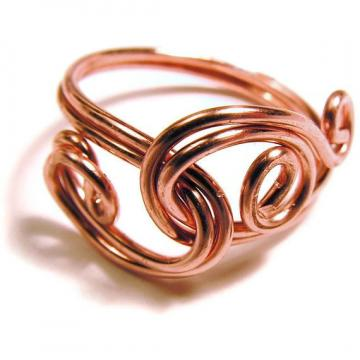 OOAK Wire Wrapped Copper Ring... Made to Order