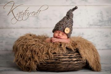 Crochet Newborn Photography Prop, Baby Button Elf Hat, Photo Prop Baby Hat, Newborn Photo Prop