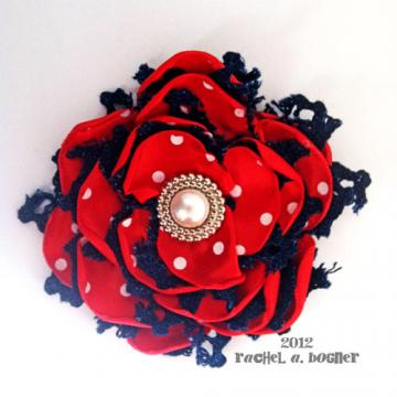 Marilyn Custom - RED WHITE AND BLUE hair clip 109