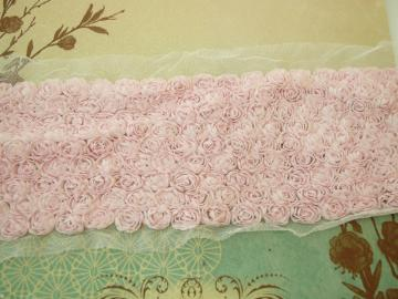 Soft Pink 9 rows scallop flowers trim