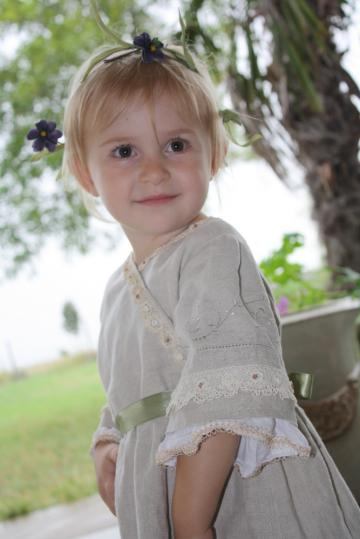 Wedding: Woodsy/Bohemian Flowergirl Dress - Zibbet Challenge Entry