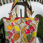 Vintage Abstract Type Design of Fruit and Veggies Market / Tote Bag