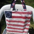 Patriotic Red White Blue Stars Stripes America the Beautiful Tote/Market Bag