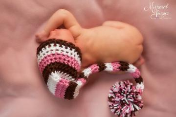 SILLY STRIPES Crochet Newborn Baby Photography Elf Hat Photo Prop
