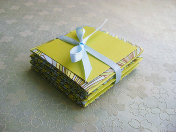 Accordion Card with Origami Box - Cool Lime