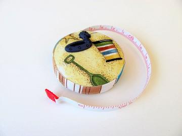 Summertime Beach Fabric Tapemeasure