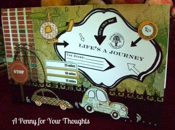 Life Is A Journey Handmade All Occasion Card