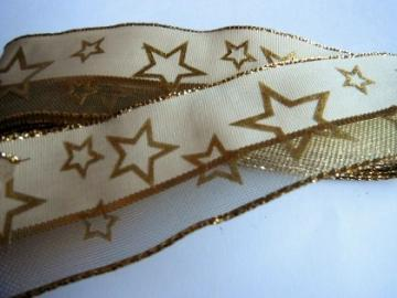 3 yards of  gold Star ribbon