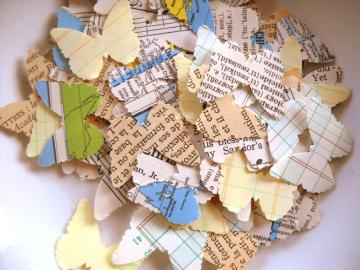 Charming Vintage Paper Confetti - Sweet Butterfly Mix