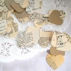 Vintage Paper Confetti Heart Punches - Sweet Kraft Mix