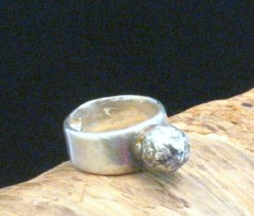 Bold Pure Silver OOAK Hand Formed Ring