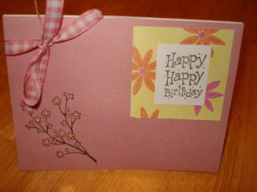 """Happy Happy Birthday"" Card"