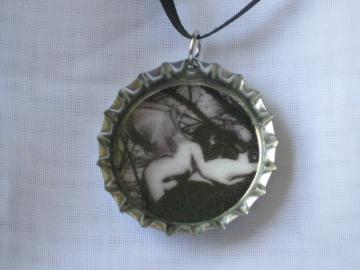 Bottlecap Pendant - Dark Angel