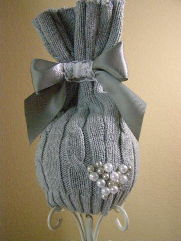 SALE... Upcycled Newborn Baby Girl Grey Sac Hat Photo Prop