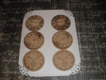 Vintage Wood Clock Embellishments