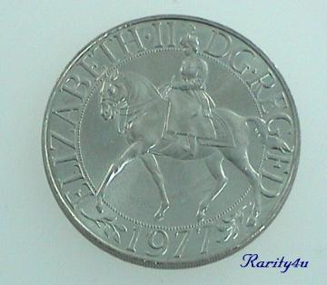 Elizabeth II Silver Jubilee Commemorative Crown Coin 1977