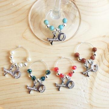 5 Hugs and Kisses XO Wine or Mug Charms
