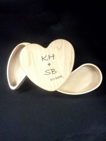 Personalized, Laser Engraved Keepsake Box- WoodHeart