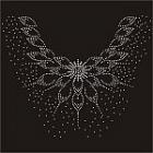 24.8cmx28.4cm Rhinestones Applique item no 11685