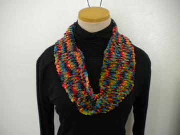 Bright Lights Circle Scarf with a Twist