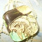 Glass Tile Pendant Witch