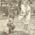 1927 Sweet Childhood Memories Rotogravure ~ Gardening is Fun!