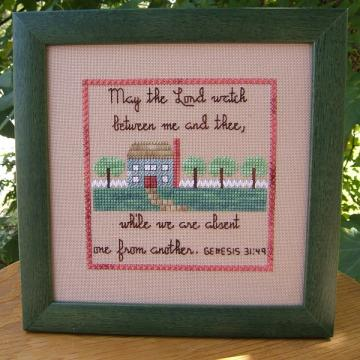 Mizpah Benediction Cross Stitch Pattern