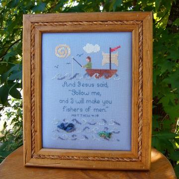 Fishers of Men Cross Stitch Pattern