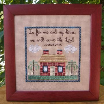 Joshua 24:15 Cross Stitch Pattern
