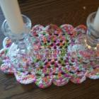 Crocheted Coasters and Doily Set