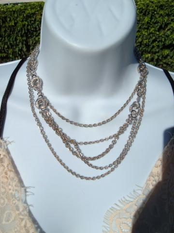 Monet vintage multi strand necklace
