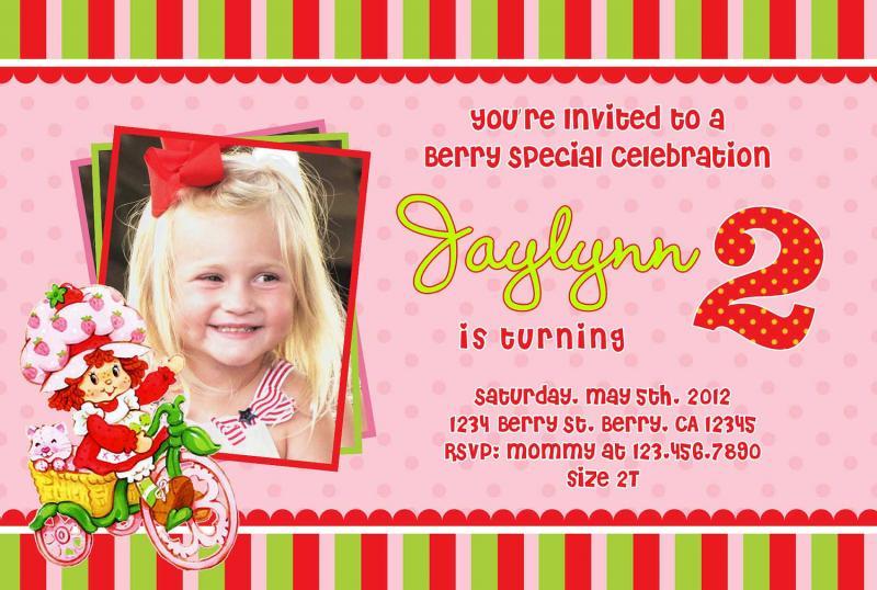 Strawberry Shortcake Invitation with good invitation sample